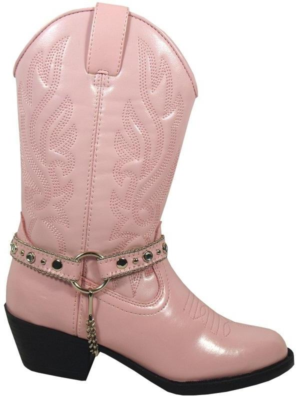 Smoky Mountain Girl's Youth Pink Charelston Western Boot