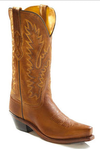 Old West Women's Brown Snip Toe Boot- Style #LF1529