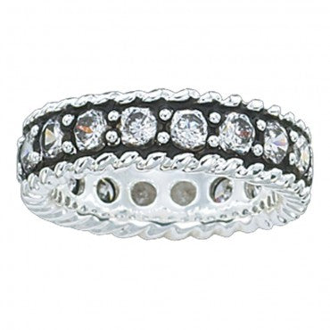 Montana Silversmith Women's Crystal Shine Band Ring- Style #RG10CZ