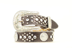 NOCONA GIRLS' RHINESTONE AND CONCHO BELT- STYLE #N4427401