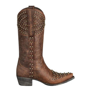 Lane Women's Rock On Brass Studded Boot- Style #LB0201A