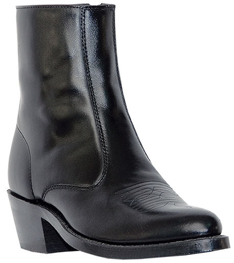 LAREDO MEN'S LONG HAUL BLACK LEATHER SIDE ZIP WESTERN BOOT- STYLE #62001