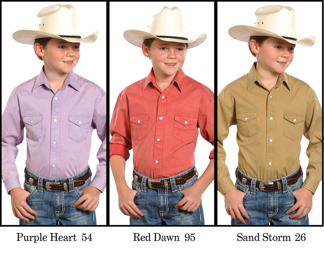 PANHANDLE SLIM BOYS' LONG SLEEVE SNAP SHIRT- STYLE #C0S8000