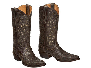 Lucchese Women's Sierra Espresso Leather Boot- Style #M4841