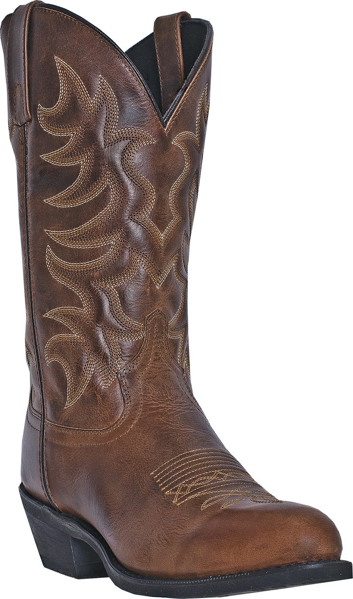 Laredo Men's All Over Brown Waxy Boot- Style #68384