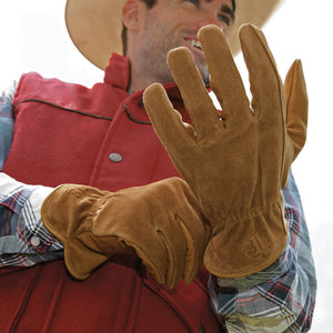 STS Ranchwear Unisex Two Tone Leather Gloves- Style #STS7841