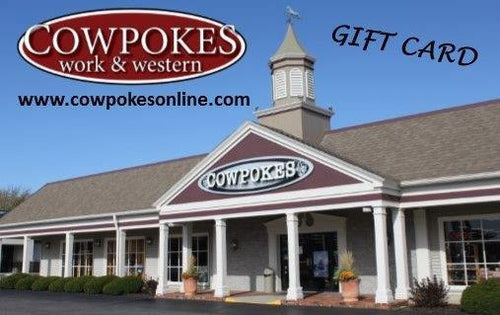 COWPOKES $25 IN-STORE GIFT CARD- STYLE #25GC