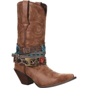 DURANGO WOMEN'S CRUSH ACCESSORIZED WESTERN BOOT- STYLE #DCRD145