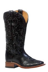 BOULET WOMEN'S HAND TOOLED RANGER WESTERN BOOT- STYLE #4311