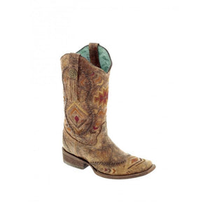 CORRAL WOMEN'S COGNAC COWHIDE LEATHER BOOT-STYLE #C2915