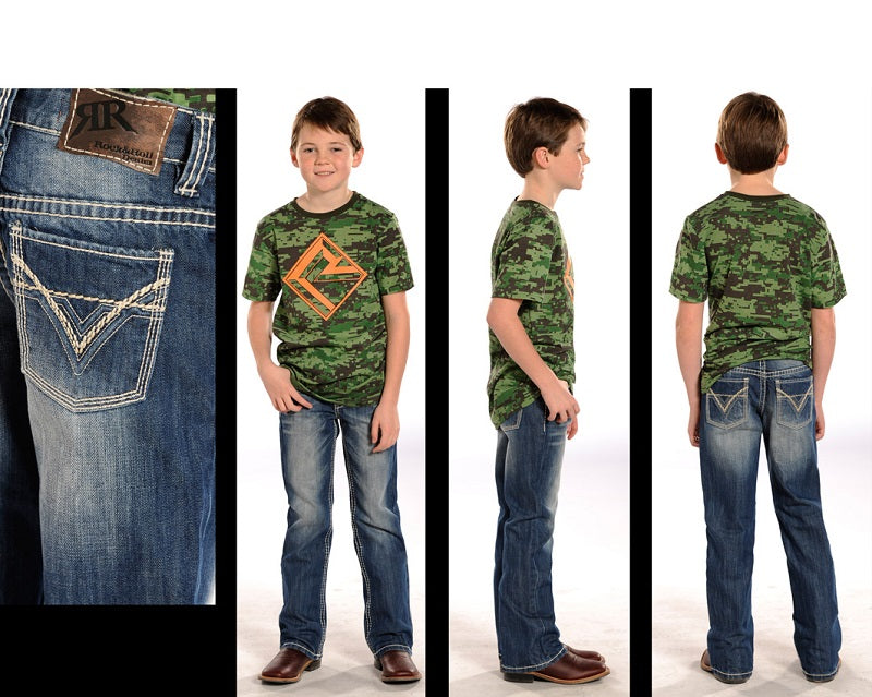 Rock & Roll Cowboy Boys' BB Gun Regular Fit Boot Cut Jean- Style #BB-9576