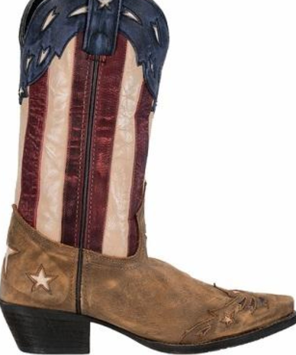 Laredo Women's Stars And Stripes Keyes Flag Boot- Style #52165