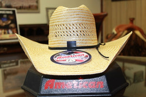 AMERICAN HAT CO. TWO TONE VENTED STRAW HAT- STYLE #850