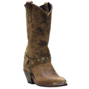 Sage Women's Brown Distressed Western Boot- Style #4528