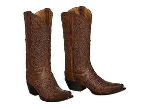 Lucchese Women's Sierra Tan Leather Boot- Style #M4959
