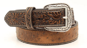 M&F Western Men's Ariat Faux Ostrich Leather Belt- Style #A1017202