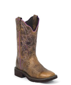 JUSTIN WOMEN'S RAYA DISTRESSED TAN GYPSY BOOT- STYLE #L2918