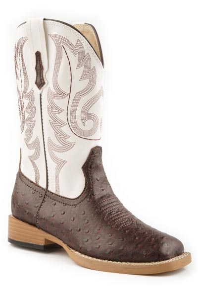 ROPER YOUTH  FAUX OSTRICH BOOT- STYLE #09-119-1900-0049
