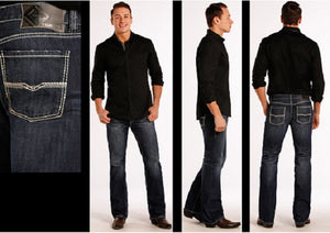 Rock & Roll Cowboy Men's Pistol Straight Leg Jean- Style #M1P8555