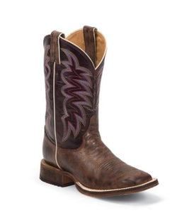 JUSTIN WOMEN'S BRONZE CEDRO BENT RAIL BOOT- STYLE #BRL372