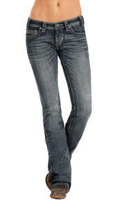 Rock & Roll Cowgirl Women's Rival Low Rise Boot Cut Jean- Style #W6-8471