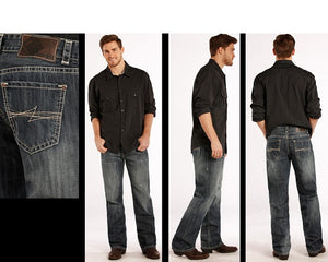 Rock & Roll Cowboy Men's Double Barrel Straight Leg Jean- Style #M0S8530