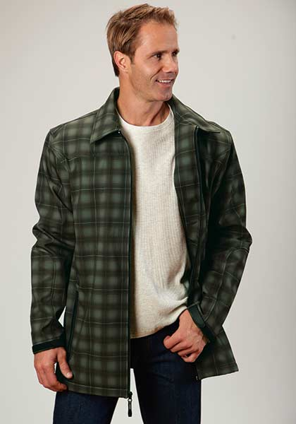 ROPER MEN'S HI TECH FLEECE JACKET- STYLE #03-097-0780-7722