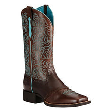 ARIAT WOMEN'S DARK BROWN ROUND UP REMUDA BOOT - STYLE #10019907