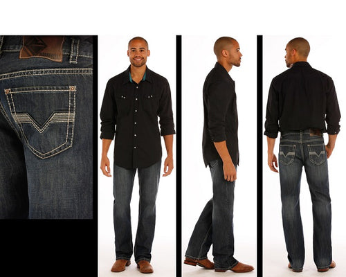 Rock & Roll Cowboy Men's Double Barrel Straight Leg Jean- Style #M0S1443