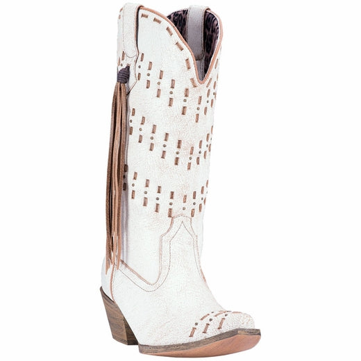 LAREDO WOMEN'S MEREDITH WHITE LEATHER BOOT- STYLE #52191