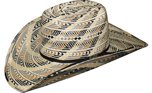 AMERICAN HAT COMPANY FANCY WEAVE MULTI COLORED STRAW HAT- STYLE #5610