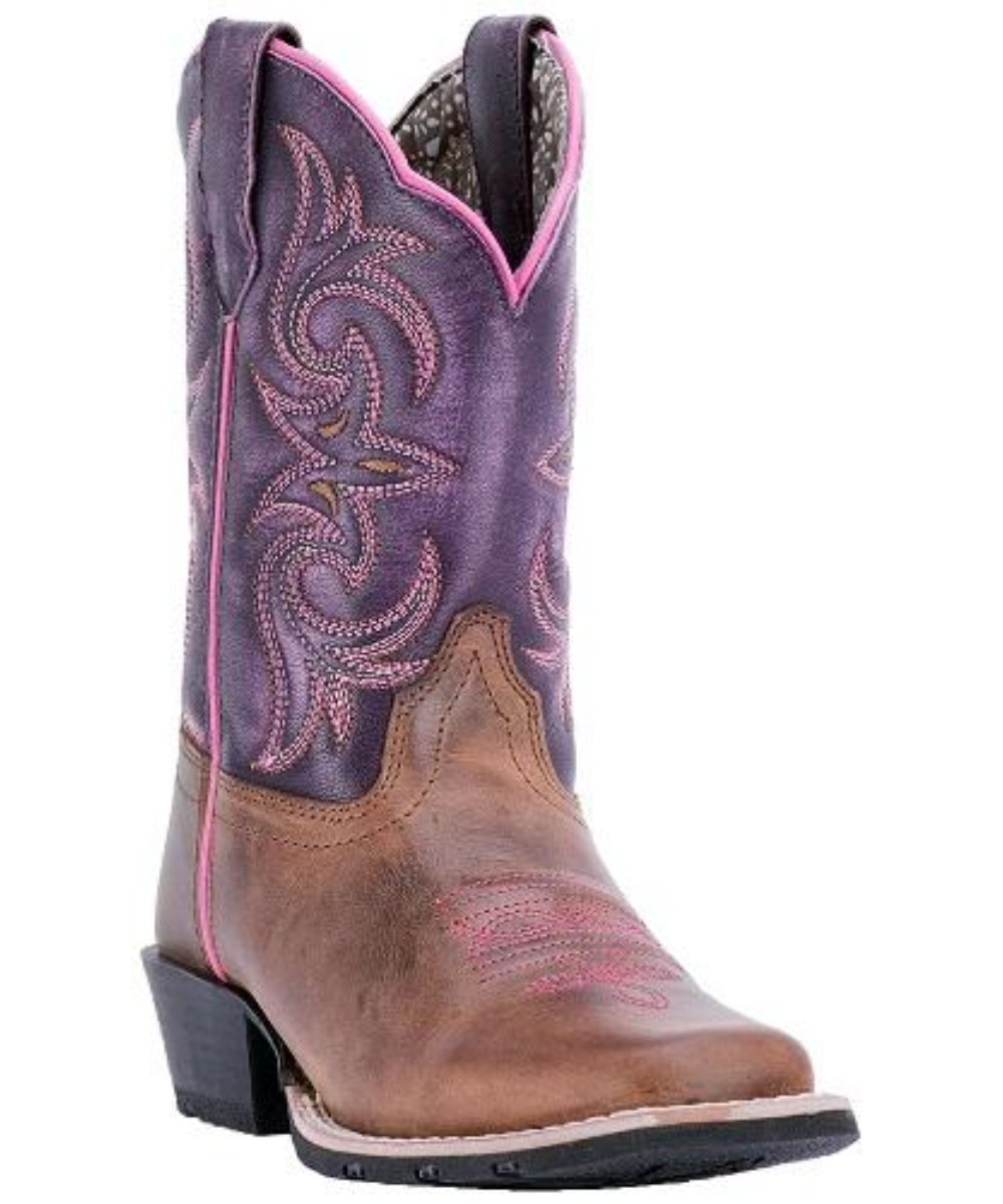 Dan Post Girls' Western Square Toe Boot- Style #DPC2947