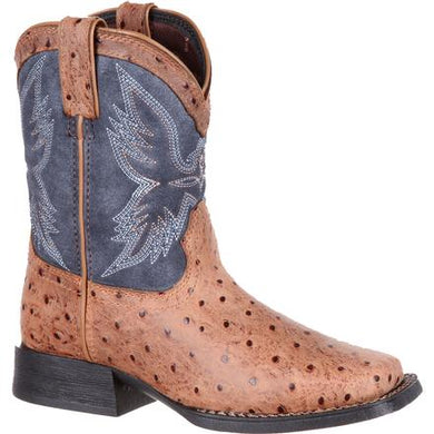 DURANGO YOUTH LIL' MUSTANG BIG KIDS' OSTRICH EMBOSS WESTERN BOOT-STYLE #DBT0190Y