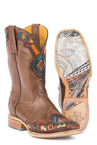 Tin Haul Women's Sunka Wakan Native Horse Sole Boot- Style #14-021-0007-1322