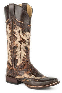 STETSON WOMEN'S SADIE SQUARE TOE BOOT- STYLE #12-021-8601-1083