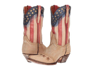 DAN POST WOMEN'S AMERICANA WESTERN BOOT- STYLE #DP3728