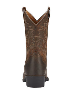 ARIAT KIDS' HERITAGE R TOE WESTERN BOOTS - STYLE #10001825