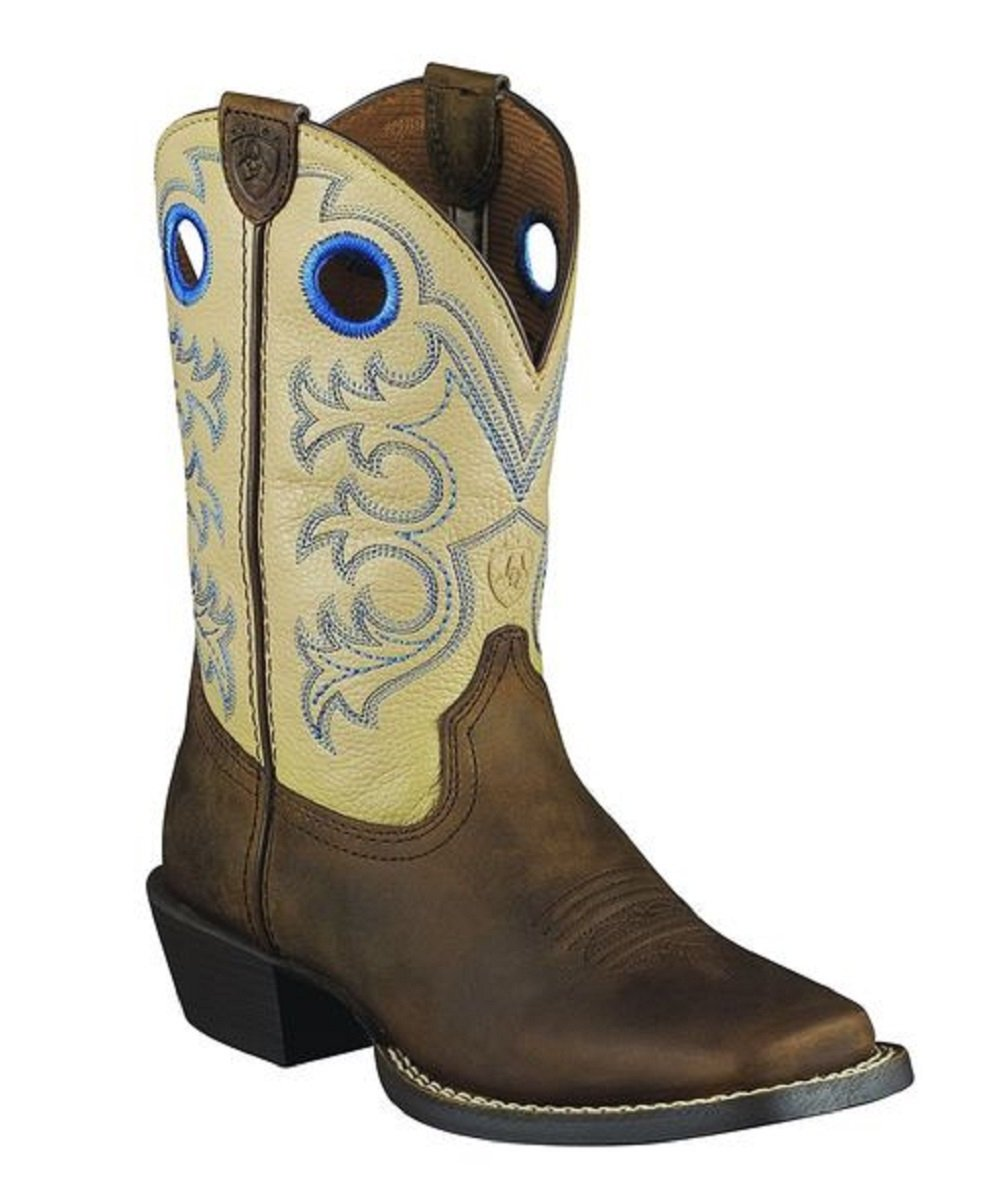 ARIAT KIDS' CROSSFIRE SQUARE TOE BOOTS - STYLE #10005993