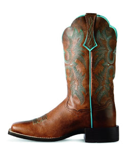 ARIAT WOMEN'S TOMBSTONE WESTERN BOOTS - STYLE #10008017
