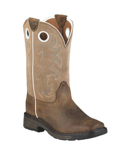 ARIAT KIDS' WORKHOG SQUARE TOE TALL BOOTS - STYLE #10008644