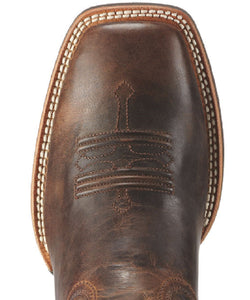 ARIAT MEN'S SQUARE TOE TOMBSTONE WESTERN BOOTS - STYLE #10010285