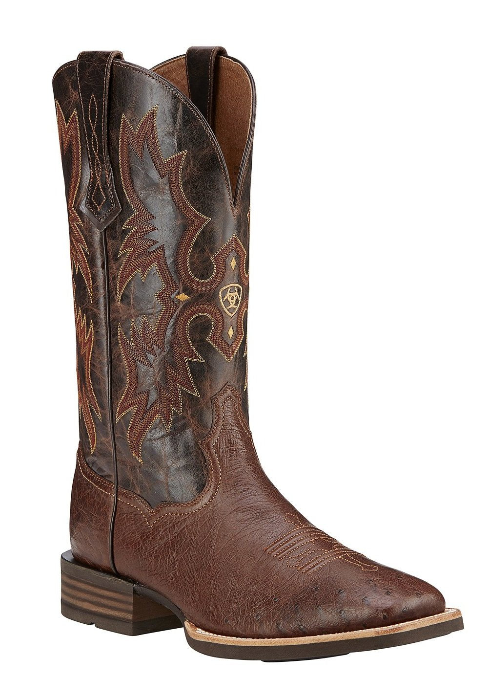 ARIAT MEN'S TOMBSTONE SMOOTH QUILL OSTRICH BOOT- STYLE #10016276