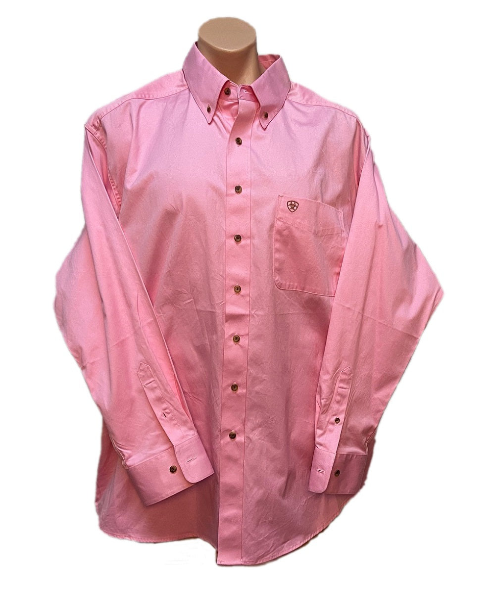Ariat Men's Pink Button Down Shirt- Style #10016692