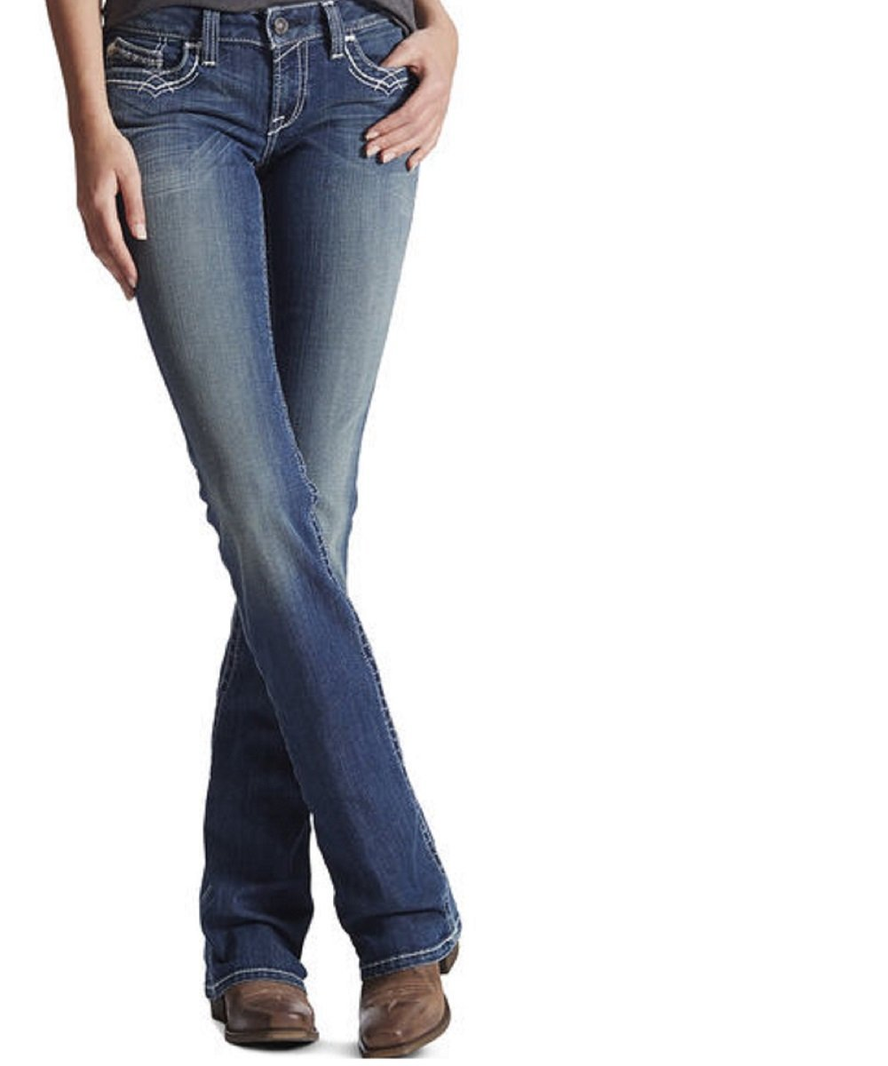 Ariat Women's R.E.A.L. Mid Rise Entwined Boot Cut Jean- Style #10017510