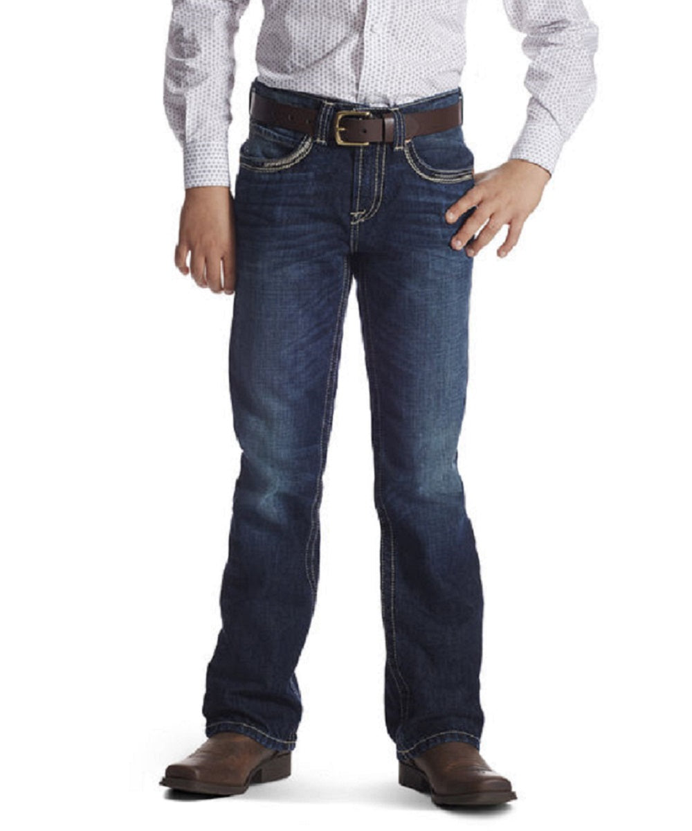 ARIAT BOYS' B4 RELAXED RIDGELINE BOOT CUT JEANS - STYLE #10018346