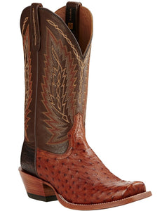 Ariat Men's Super Stakes Full Quill Ostrich Boot- Style #10018712