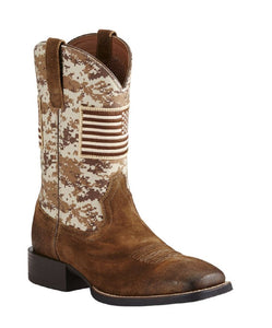 ARIAT MEN'S SPORT PATRIOT WESTERN BOOT- STYLE #10019959