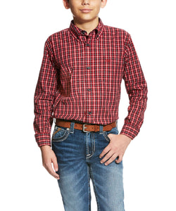 ARIAT BOYS' LONG SLEEVE BENTON BUTTON DOWN SHIRT - STYLE #10020959