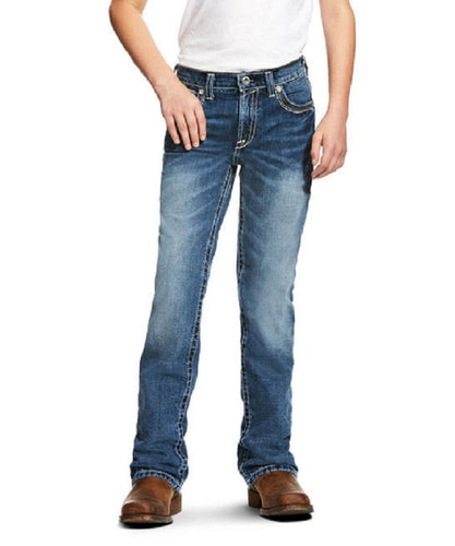 Ariat Boys' B4 Relaxed Coltrane Boot Cut Jean- Style #10021160