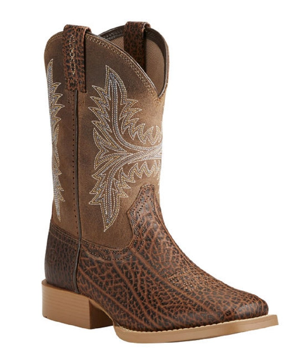 4dd01f7726a ARIAT KIDS' COWHAND WESTERN BOOTS - STYLE #10021595